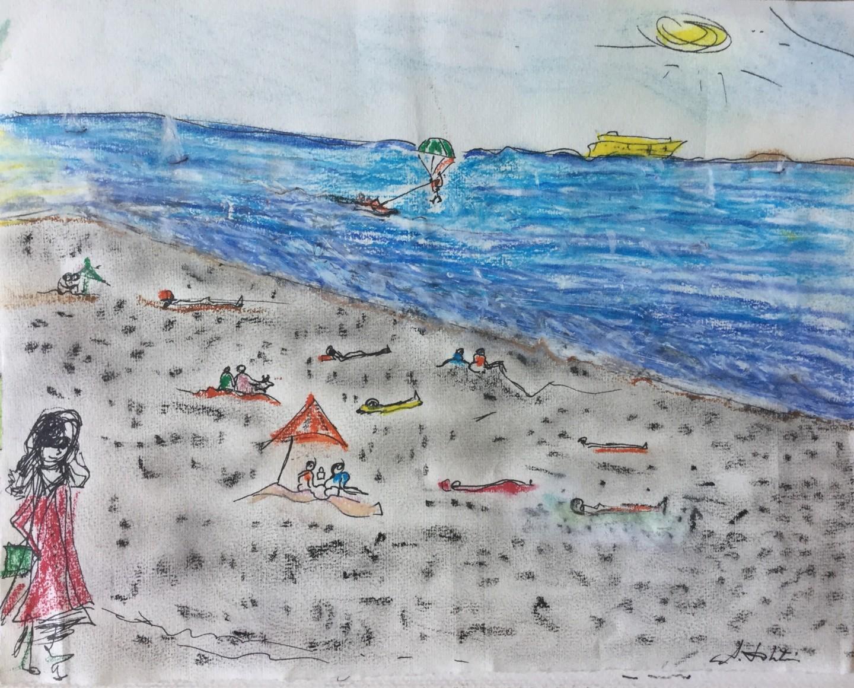 Ann Lahti - Côté D'azur - A la plage