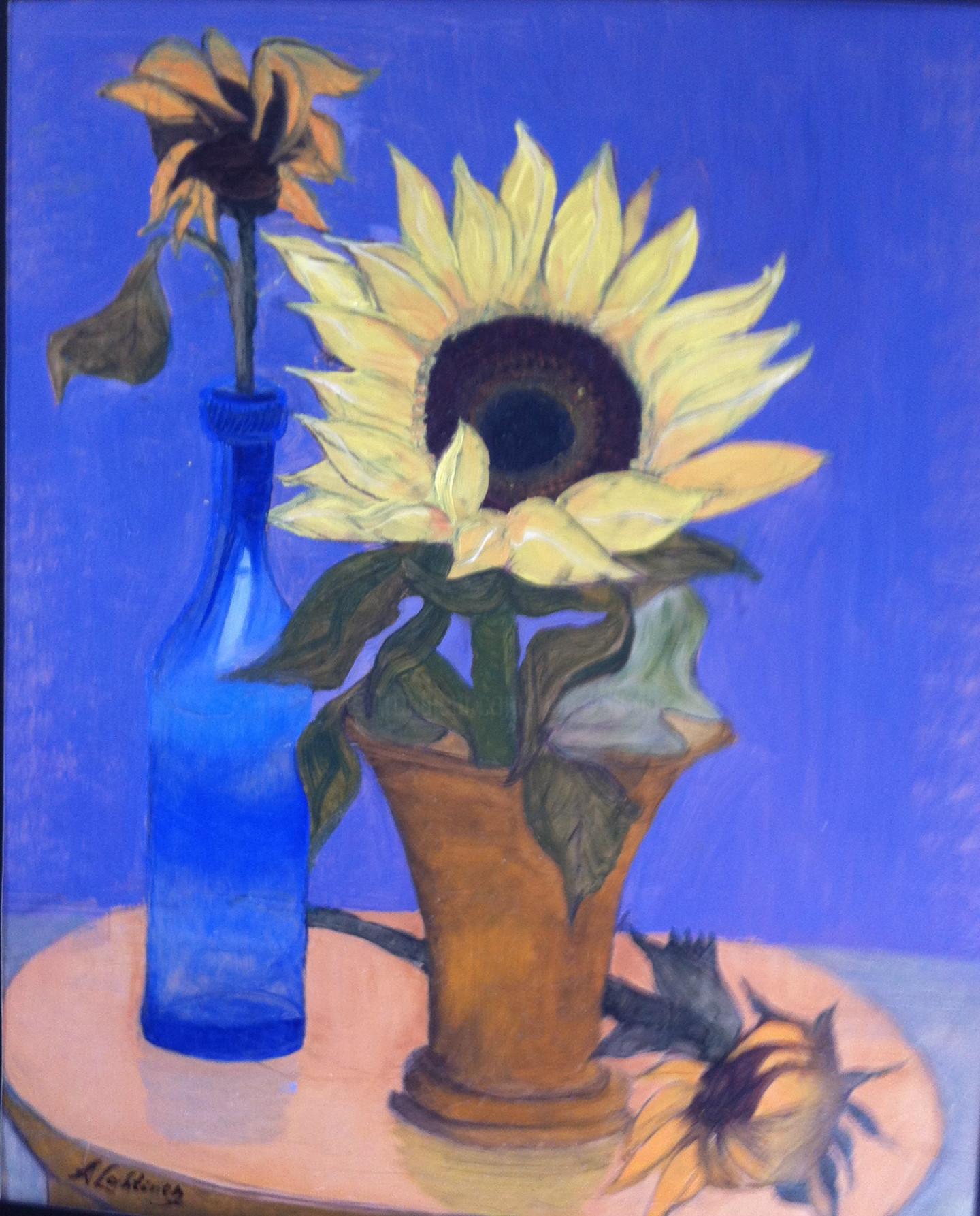 Ann Lahti - Sunflowers still life