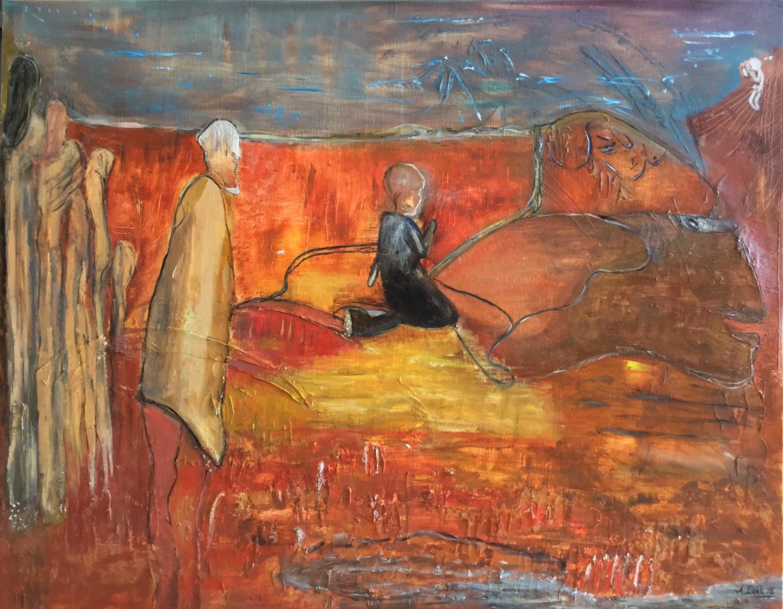Ann Lahti - Gateway no 1- 16/08 100x75cm ~oil, pigments canvas